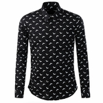 Mini Bat Printed Dress Shirt