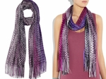 MISSONI Multicolor Crochetknit Scarf