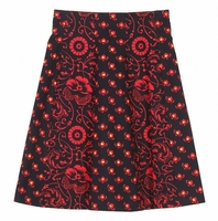 Red Knee Length Skirt (Final Sale)