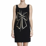 Moschino Boutique Black Bow Print Dress