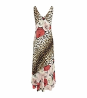 Moschino Cheap & Chic Animal Leopard Rose Gown