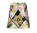 Moschino Cheap & Chic Green Printed Satin Mini Skirt (On Sale)
