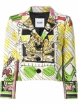 Multicolor Emblem Printed Jacket (On Sale)