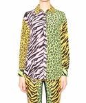 MOSCHINO CHEAP AND CHIC Multiprint silk shirt