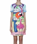Moschino Cheap & Chic Crepe Dress With Where Am I? Print - 4.21