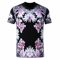 Multi Color Abstract Print T-shirt