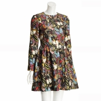 Multicolor Butterfly Print Bamboli Dress