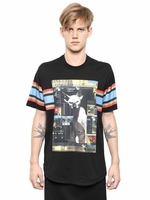 Multicolor Cotton Jersey Columbian Fit Tshirt