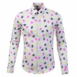 Neon Lips Printed Dress Cotton Shirt