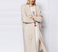Oversized Knitted Gown Coat