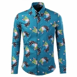 Patch Elephant Printed Dress Shirt
