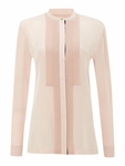 Paul Smith Black Label Pink Long Sleeved Silk Shirt - 4.29