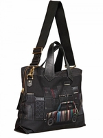 Black Printed Canvas Bag
