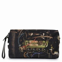 Black Vintage Mini Engine Wash Bag