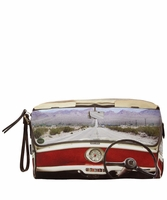 Multicolor Brown Dash Board Wash Bag