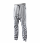 PIERRE BALMAIN LEATHER DRAWSTRING SWEATPANTS (GREY)