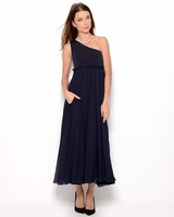One Shoulder Silk Gown- Made in Italy