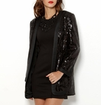 Pierre Balmain Open Front Sequin Jacket - Made in Italy