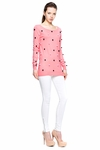 Pink Applique Pom Poms Sweater (On Sale)