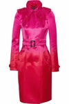 Pink Satin Degrade Trench Coat - 9.5