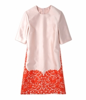 Pink The Wanda Embroideredhem Shift Dress