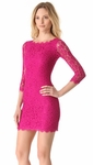 DVF Pink Zarita Lace Dress