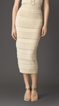 PLEAT DETAIL KNITTED PENCIL SKIRT - 4.21