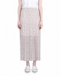 See by Chloe Pleated Printed Maxi Skirt