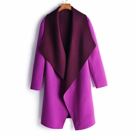 Purple Wool Felt Coat