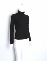 Ralph Lauren Blue Label Black Karen Knit Turtleneck Sweater