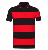 Red Cuban-Fit Striped Polo Shirt