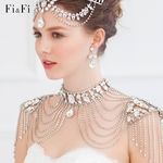 Rhinestone jewelry chain tassel shoulder set FF6022