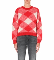 Sandro Sparks Plaid Sweater