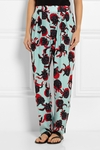 See By Chloe Blue Printed Crepe Straight Leg Pants