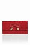 See By Chlo�  Zip-Around Embossed Wallet