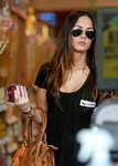 Sleeve Deep Crew Neck Tee with Pocket as seen on Megan Fox