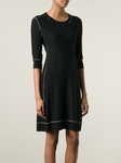 Sonia by Sonia Rykiel Black Outline Knitted Dress - 5.31
