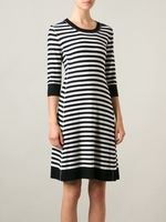 Sonia by Sonia Rykiel Black Striped Knitted Dress