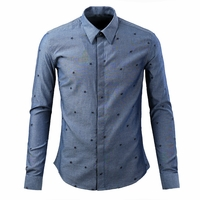 Star Embroidery Dress Shirt