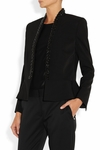 Eliane embellished wool-twill jacket