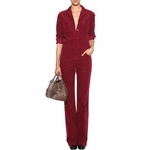Red Cotton corduroy Jumpsuit