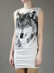 Wolf Printed Jersey Dress/Long Tee