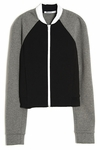 T BY ALEXANDER WANG Black Neoprene And Jersey Bomber Jacket