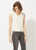 TAZ Sleeveless linen T-shirt