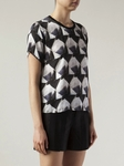Theyskens' Theory Irock Brib Short Sleeve Blouse