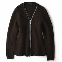 Tibet Plateau yak Sheepskin Trim Knitted jacket