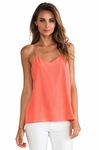 TIBI Orange Silk Cami Basil