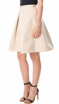 Tibi Pleated Skirt - Beige