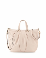 Tory Burch All-T Leather Satchel Bag