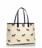 Tory Burch Beige Kerrington Horseprint Shopper